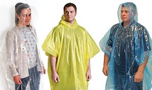 Review for amazing value 9 x assorted unisex adult emergency waterproof reusable rain ponchos with hoods perfect for festivals camping theme parks