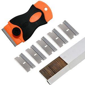 """Cheap Ehdis® 1.5 """"Mini raspador con 100PCS de acero al carbono de un solo filo hojas de afeitar para la Eliminación de pegamento, registro, pintura, calcomanías con el envío libre"""