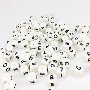 Reseña Mamimami Home 60pc Cubo del alfabeto Grado de comida Cuentas de silicona en 26 letras BPA Gratis Silicona Masticación Rosario para Dentición Masticar Rosario Guía