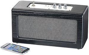 deals for - auvisio mini lautsprecher mobiler retro lautsprecher mit bluetooth 41 und aux eingang 40 watt bluetooth stereo lautsprecher