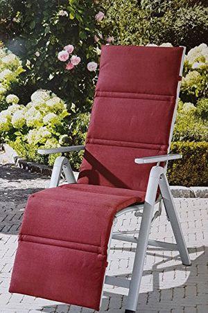 Angebote für -relaxsessel auflage rot relaxauflage relaxpolster hochlehnerauflage gardenline