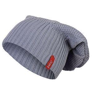 sense42 long beanie unisex strickmütze mit muster lange mütze slouch wintermütze one size grau