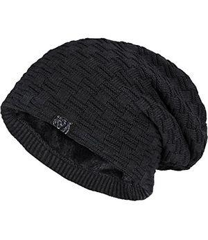 Angebote für -caripe warme winter mütze fleece innenfutter gefüttert long beanie jy 35ny schwarz