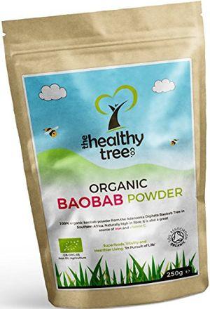 Baobab Orgánico en Polvo - alto en fibra, calcio, vitamina C y antioxidantes - Excelente en avena y en batidos - Polvo de baobab bio super fruta pura por TheHealthyTree Company ofertas Especiales