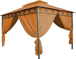 Angebote für -ersatzdach für pavillon cape town 4x3 m wasserdicht in 3 farben pavillondach 3x4 m mit pvc beschichtung terracotta