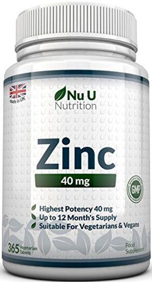 Comprar Zinc - Gluconato de Zinc 40 mg - 365 Comprimidos (Suministro Anual) - Zinc Suplemento de Nu U Nutrition Mejor oferta