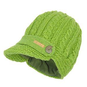 deals for - mcron wollmütze elisha hellgrün für damen warm gefüttert mit weichem fleece strickmütze mit schirm wintermütze