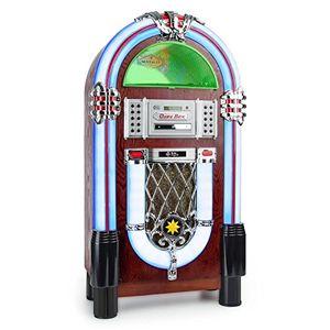 Angebote für -auna graceland tt • jukebox • retro musikbox • bluetooth • plattenspieler • mp3 fähiger cd player • usb port • sd karten slot • aufnahmefunktion • aux eingang • ukw radio • led beleuchtung • braun