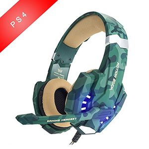 deals for - gaming headsets easysmx led beleuchtung noise cancellation stereo gaming headset mit mikrofon 35mm und in line controller kompatibel mit neue xbox one ps4 mobile phones laptop tablet und pc