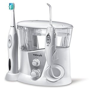 Waterpik WP-950EU - Irrigador y cepillo de dientes electrico sonico, color blanco día Ventajas Desventajas Padres