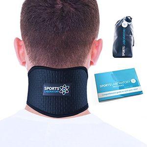 ofertas para - sports laboratory collarín cervical para el dolor de cuello ajustable con turmalina e imanes con capacidad de emitir calor regular