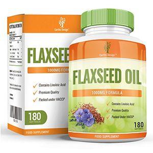 ofertas para - aceite de linaza cápsulas de aceite de linaza 1000mg mejor fuente de omega 3 6 9 para hombres y mujeres obtén el doble de cápsulas 180 cápsulas de gel suministro para 3 meses de earths design