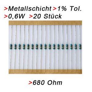 deals for - widerstand 680 ohm 20 stück metallschicht 06w 1 metallfilm widerstände