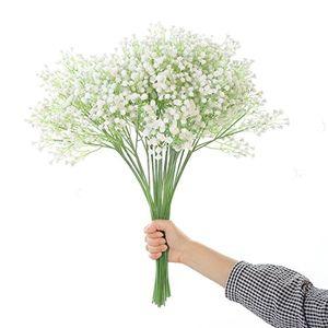 deals for - justoyou tall gypsophila künstliche blumen white fake blumen für zu hause hochzeit party dekoration