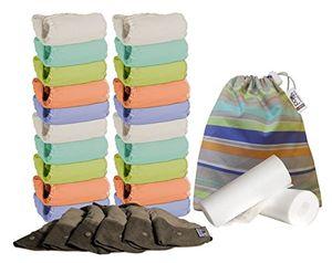 Top Close Parent POPV2-20-PT-BB - Pack de 20 pañales de tela de bambú + 6 absorbentes de noche + 160 forros + 1 bolsa impermeable Con Descuento