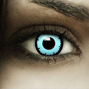 ofertas para - lentillas de color azul cápsulas de sangre artificial recipiente de fxcontacs en blanco blandas sin dioptrías pack de 2 unidades cómodas y perfectas para halloween carnaval sin corregir