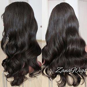 Calientes zanawigs cuerpo Wave Lace Front Peluca tablón Natural de profundidad de pelo humano Remy brasileño cuerpo Wave encaje peluca con pelo para las mujeres negras ofertas de hoy