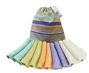 Top Close Parent 8921100014 - Pack de 10 toallitas lavables de bambú en colores pastel, 19 x 14 cm Guía