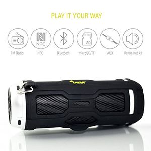 deals for - leicke dj roxxx active stereo tragbarer lautsprecher 10w schwarztragbare lautsprecher 2 wege 381cm 10w verkabelt u kabellos nfcbluetooth35mm 40edr