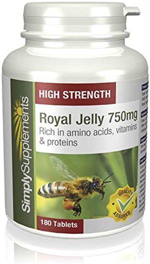 Hot Jalea Real 750mg - 180 Comprimidos - Hasta 6 meses de suministro - Rico en aminoácidos para el cuidado de la piel - SimplySupplements comparación