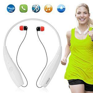 photos of WISEUP Ultraleichtes Nackenbügel Bluetooth Kopfhörer V4,1 In Ear Tragbare Faltbar Musik Ohrhörer Mit Mikrofon Für Sport Fitness Joggen   Weiß Cyber Montag Kaufen   model CE