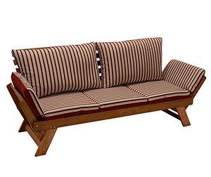 Angebote für -garten liegesofa tirol 202cm mit klappbaren seitenlehnen eukalyptusholz mit wendeauflage rot beige fsc® zertifiziert