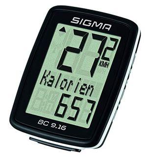 deals for - sigma sport fahrrad computer bc 916 9 funktionen maximalgeschwindigkeit kabelgebundener fahrradtacho schwarz