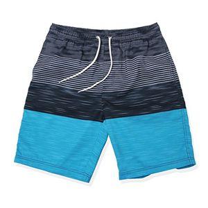 deals for - gwell herren streifen wasserdicht badeshorts beachshorts boardshorts badehose sommer strand blau 2xl
