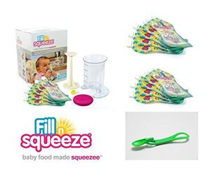 ofertas para - pack fillnsqueeze kit de rellenado 15 bolsas reutilizables y 1 cuchara fillnsqueeze