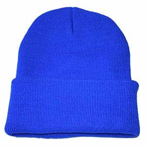 ursing unisex jungen mädchen slouchy stricken mütze hüfte hopfen kappe klassisch warm winter ski hut super süß weich strickmütze einfarbig modisch hochwertige badymütze blau
