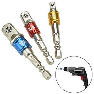 Top willingood 3 tlg stecknuss adapter 14 12 38 sechskant steckschlüssel schraubenschlüssel nuss set adapter verlängerung