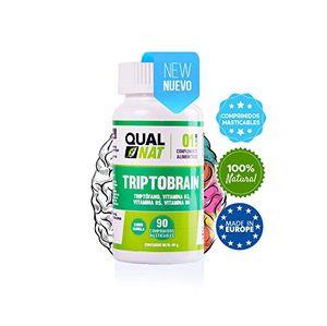 Reseña Triptófano con vitamina B6, vitamina B3 y vitamina B5 para ayudar al estado de ánimo y conseguir un sueño reparador – 90 comprimidos masticables con sabor a vainilla para un fácil consumo Mejor compra