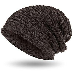 Buy compagno wintermütze warm gefütterte mütze sportlich elegantes wabenmuster mit weichem fleece futter beanie meliert farbegrau braun meliert