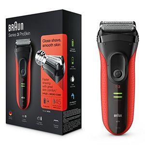 Braun Series 3 ProSkin 3030S - Afeitadora eléctrica recargable, color rojo antes de compra