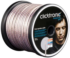 clicktronic advanced dual lautsprecherkabel 2x 25mm² 10m