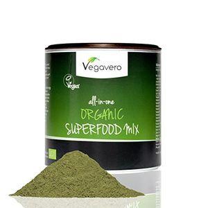 ofertas para - superfood mix vegavero 100g mezcla de 17 superalimentos orgánicos espirulina matcha moringa cúrcuma espinacas spirulina chlorella etc 100 vegano batidos zumos comidas fabricado en alemania