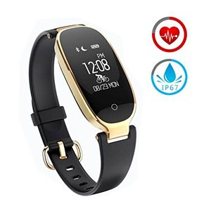 ofertas para - reloj inteligente mujer zkcreation fitness tracker k3 bluetooth smartwatch pulsera inteligentes actividad monitor cardio podómetro ip67 impermeable monitor de sueño compatible con android y ios negro