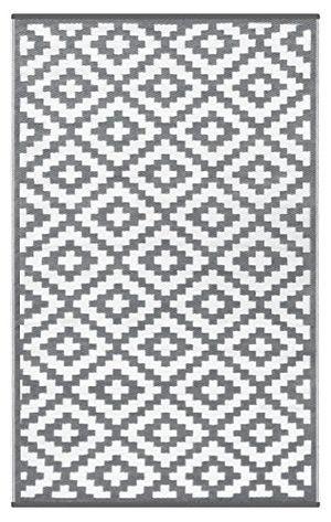 Angebote für -green decore wendbarer öko teppich aus recyceltem kunststoff plastik für innen und außen federleicht 90 x 150 cm grau weiß