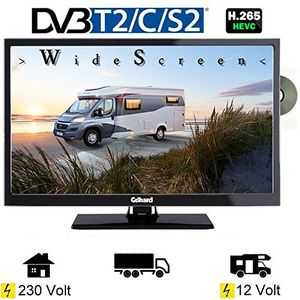 Review for gelhard gtv2442 led fernseher 24 zoll dvbss2t2c dvd usb 12v 230 volt