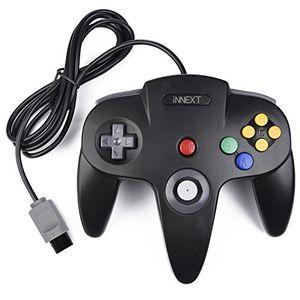 Hot innext retro 64 bit n64 controllerkabelgebundener gamepad controller joystick für n64 konsole n 64 system schwarz