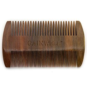 ofertas para - peine de madera de sándalo anti estático de bolsillo para la barba gainwell