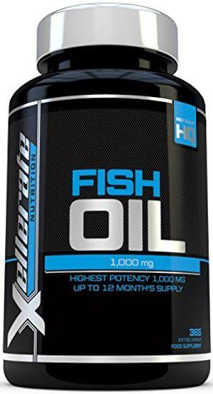 Aceite de Pescado Omega 1000 mg- 365 cápsulas softgel - Fabricado en el Reino Unido - Suplemento de Alta Potencia Aceite de Pescado Omega 3 - Omega 3 6 9 Triple Fuerza EPA y DHA ofertas especiales