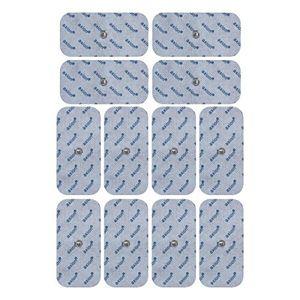12 electrodos para Beurer Hydas y Vitalcontrol SEM 40//42 /43/44 (50x100mm), conexión de botón 3,5mm Mejor compra