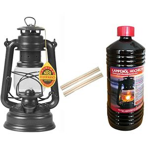 set feuerhand sturm laterne 276 lampe farbe sparkling iron eisenfarben 1 liter lampenöl 2 ersatz dochte