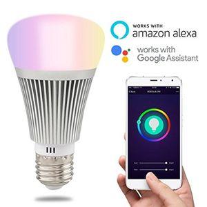 ofertas para - heanttv bombillas inteligentesonoff b1 bombillas wifibombillas inalámbrica de color multicolorled bombillas remotabombillas el temporizador por control del teléfonobombillas despertador 6w e27