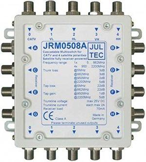 Angebote für -jultec jrm0508a multischalter 8 teilnehmer und mehr receivergespeist ohne strom stromanschluss