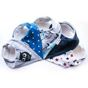 ofertas para - lovjoy baberos del bebé paquete de 5 diseños para niño pequeña estrella