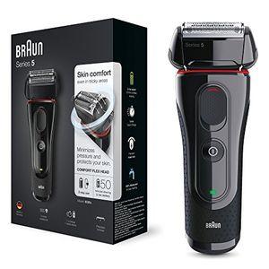 Calientes Braun Series 5 5030s - Afeitadora eléctrica de lámina para hombre (recortadora de precisión extraíble, recargable e inalámbrica) negro/rojo Hot oferta