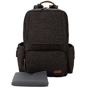 ofertas para - lekebaby mochila para pañales con cambiador bebe unisex para mamá y papá negro