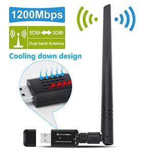 usb wlan adapter 1200mbps yatwin 80211ac zwei band 24g5g drahtloser netzwerk adapter usb w lan dongle adapter mit 5dbi antenne unterstützung win vistawin 7win 81 win 10 mac os x 109 10124